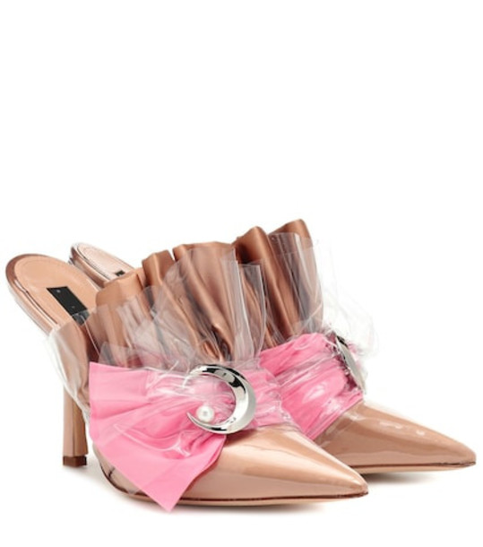 Midnight 00 Embellished PVC mules in beige