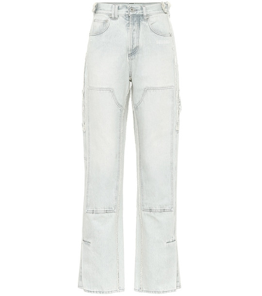 Off-White High-rise wide-leg jeans in blue