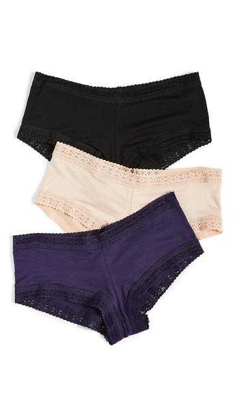 Hanky Panky Dream Boy Shorts 3 Pack in black / indigo