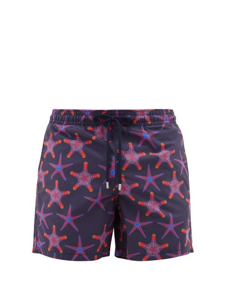 Vilebrequin - Moorea Starfish-print Swim Shorts - Mens - Navy Multi