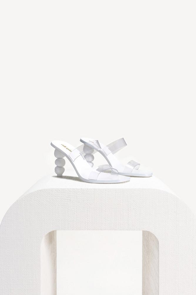 Cult Gaia Meta Heel - White                                                                                               $428.00