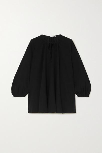 Co - Tie-detailed Crepe Blouse - Black