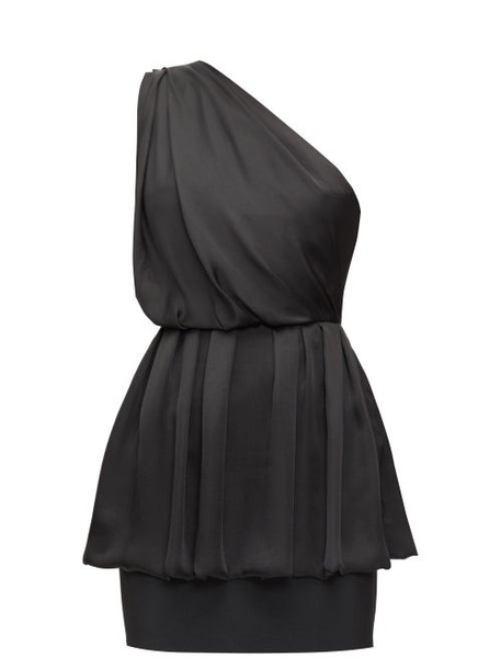 Alexandre Vauthier - Draped One-shoulder Chiffon Mini Dress - Womens - Black