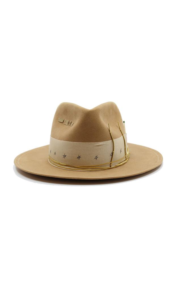 Nick Fouquet Nick Fouquet x Rochas Embellished Felt Hat in neutral