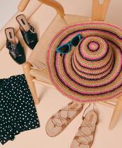 shoes,hat,shorts,sunglasses