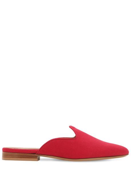 LE MONDE BERYL 20mm Venetian Cotton Mules in red