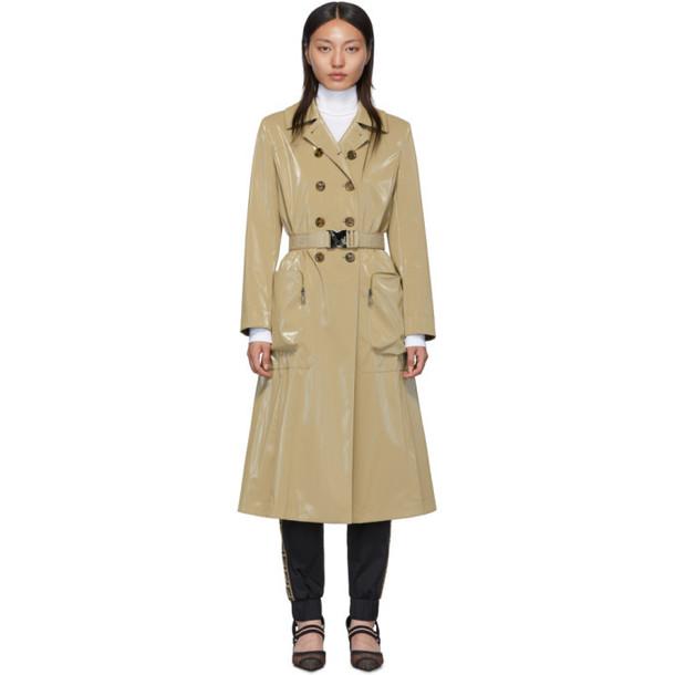 Fendi Beige Forever Fendi Belted Trench Coat