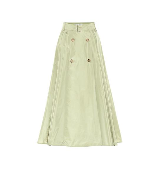 Max Mara Cinese taffeta midi skirt in green
