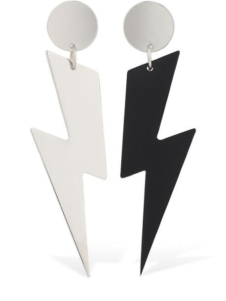 ISABEL MARANT Ziggy Bicolor Earrings in black / silver