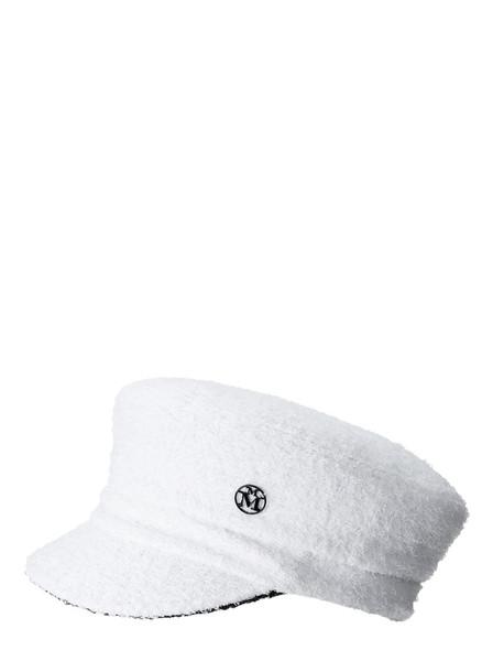 MAISON MICHEL Soft Abby Reversible Cotton Blend Hat in black / white