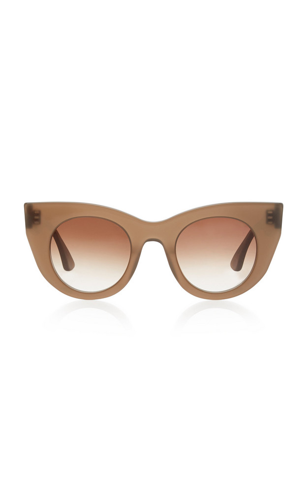 Thierry Lasry Bluemoony Cat-Eye Acetate Sunglasses in brown