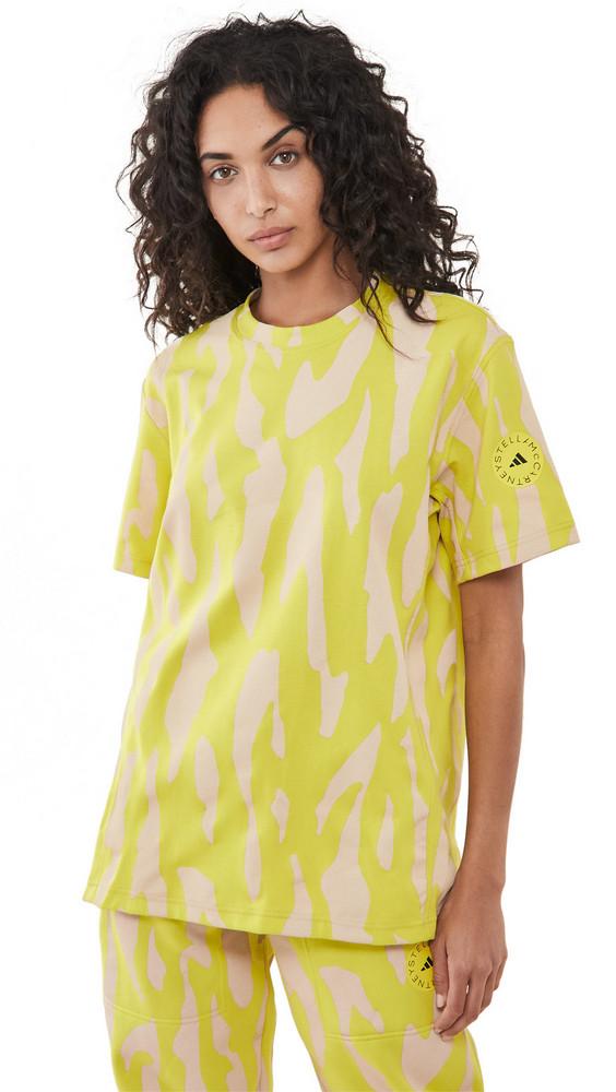 adidas by Stella McCartney ASMC Tee in green / white / yellow