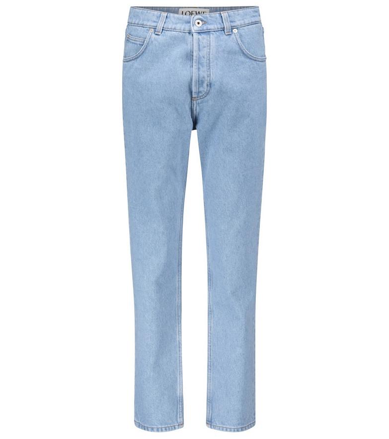 Loewe High-rise slim jeans in blue