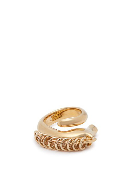 Chloé Chloé - Arizona Horse Brass Ring - Womens - Gold