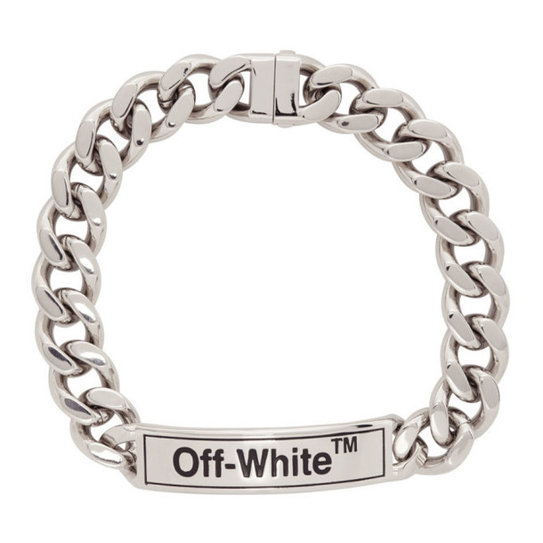 Off-White Silver Sweetheart Choker Necklace