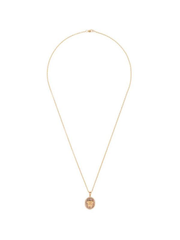 O Thongthai 14kt yellow gold Leo diamond necklace