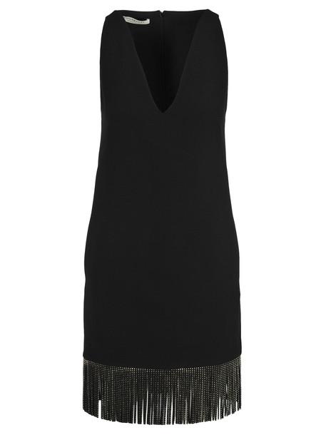 Philosophy di Lorenzo Serafini Philosophy Fringed Dress in black