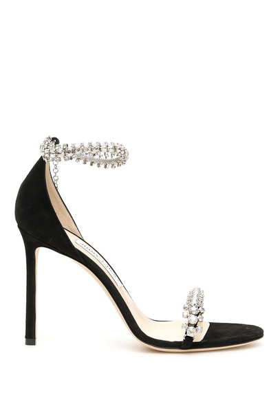 Jimmy Choo Crystal Shiloh 100 Sandals in black