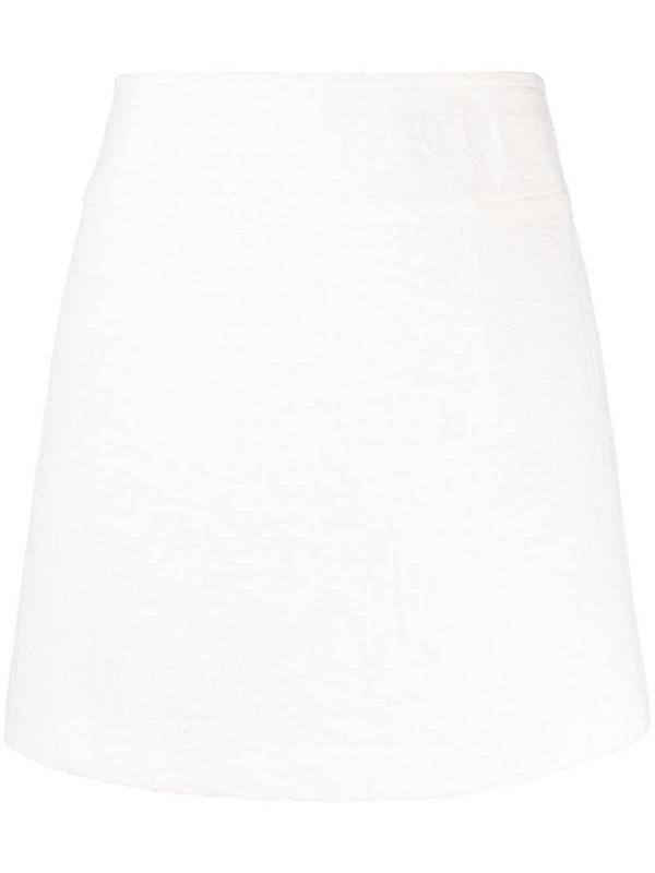 A.P.C. crease-effect A-line skirt in neutrals