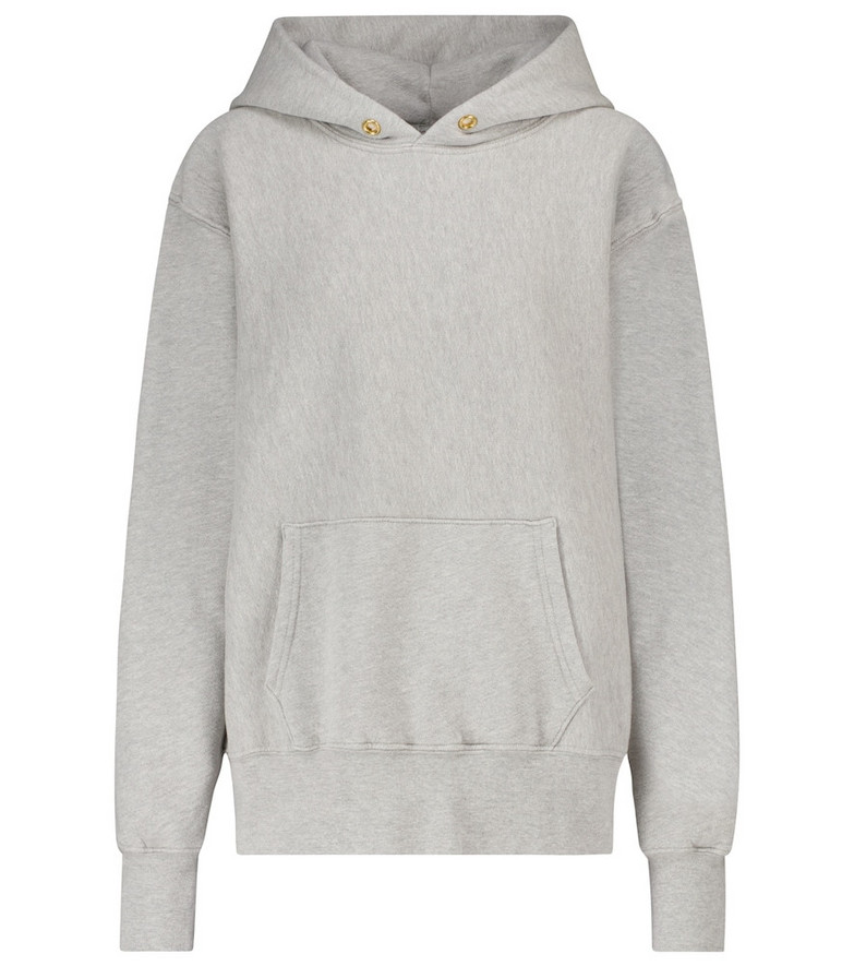 Les Tien Cotton-fleece hoodie in grey