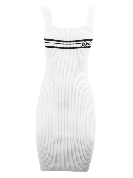 GCDS White Viscose Stretch Dress