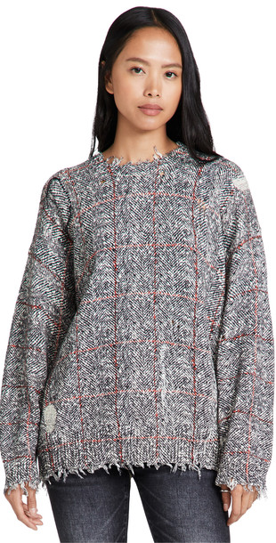 R13 Printed Tweed Sweater