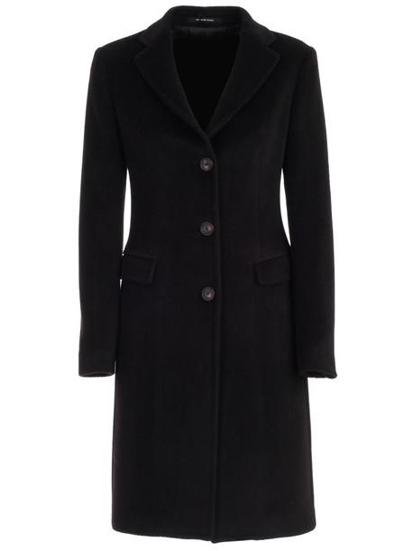 Tagliatore Coat Single Breasted W/slit in black