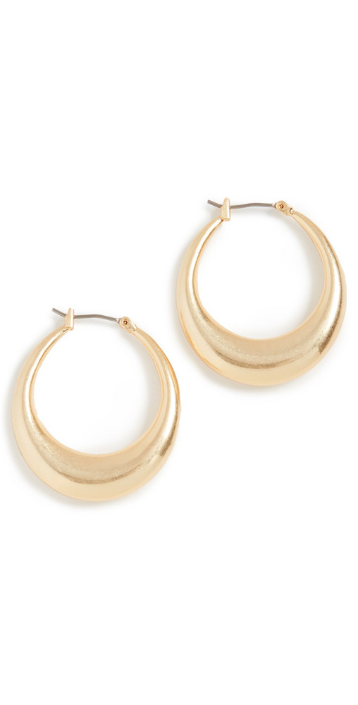 Madewell Large Click Top Hoops in gold