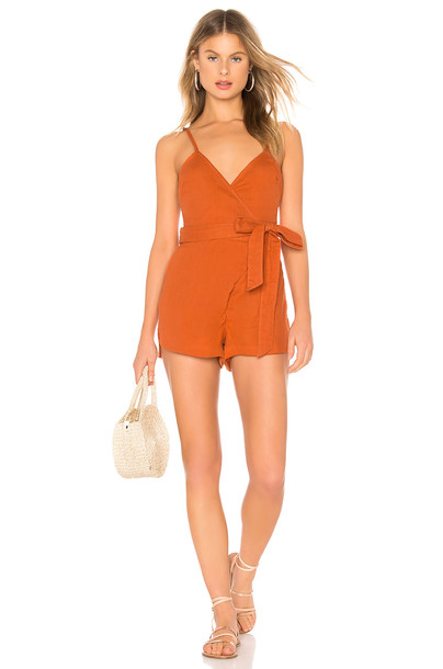 Acacia Swimwear NS Romper in orange