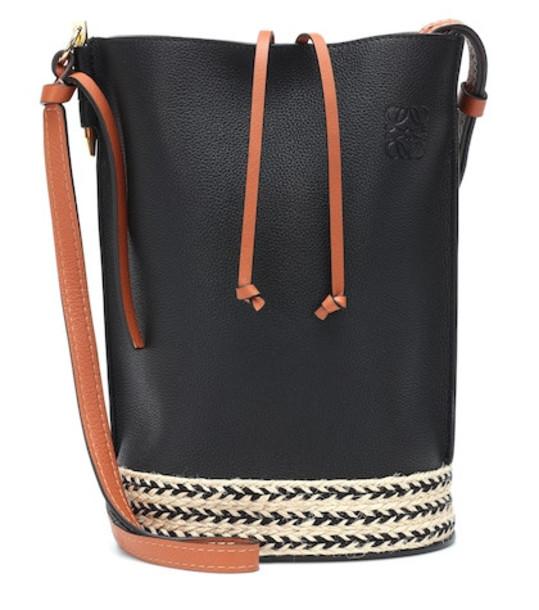 Loewe Gate leather bucket bag in black