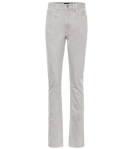 Isabel Marant Nominic high-rise slim jeans in grey