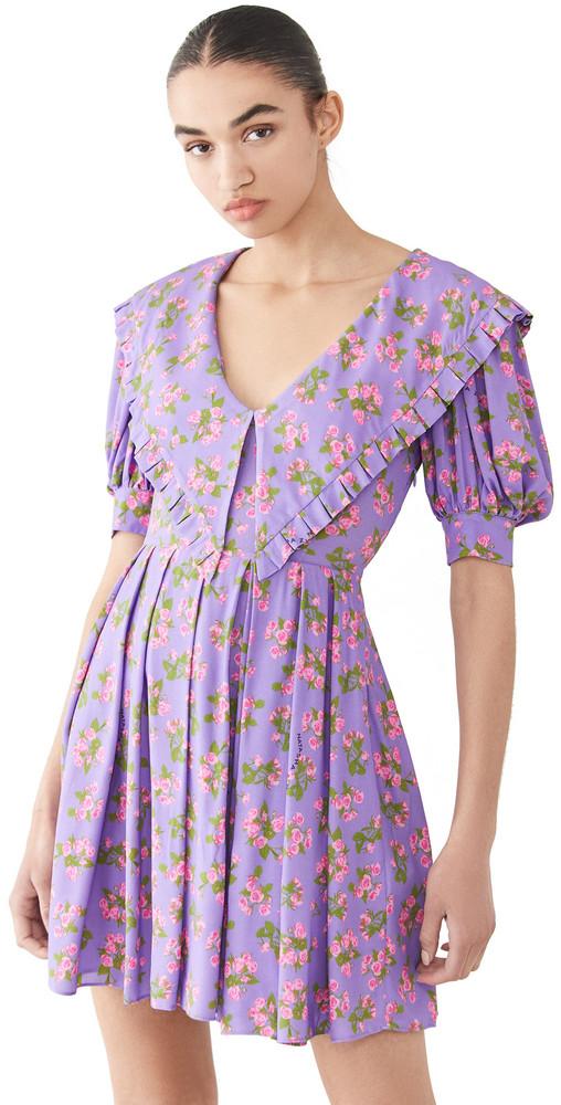 Natasha Zinko Collar Dress in lilac