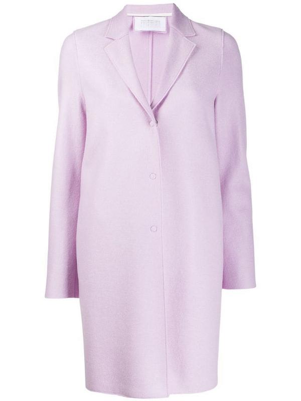 Harris Wharf London Cocoon single breasted coat in purple