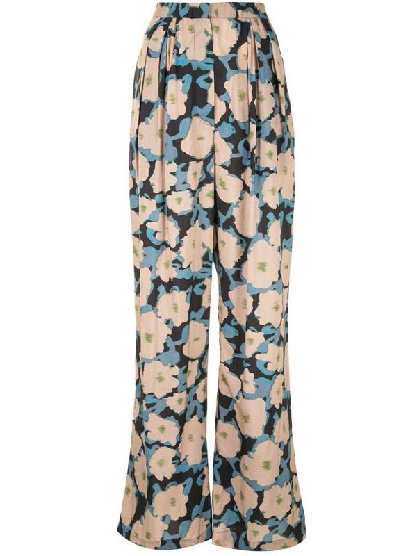 Christian Wijnants Pamod poppy print trouser in brown