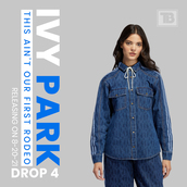 top,jacket,denim jacket,outfit,fall outfits,winter outfits,ivy park,blue ivy,ivy parks,beyonce fashion