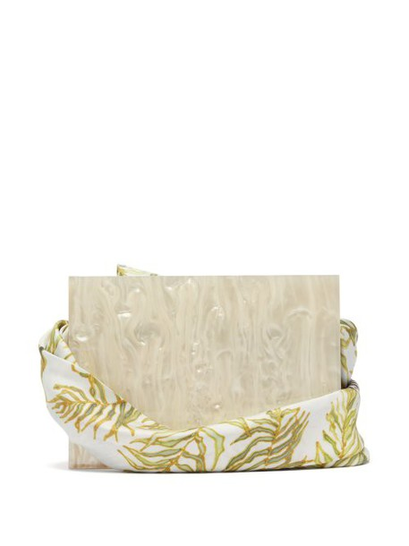 Montunas - Guaria Orchid Print Box Bag - Womens - White Multi