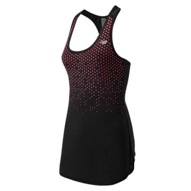 New Balance 53161 Women's Accelerate Tunic Graphic - Black, Cerise (WT53161BAN)