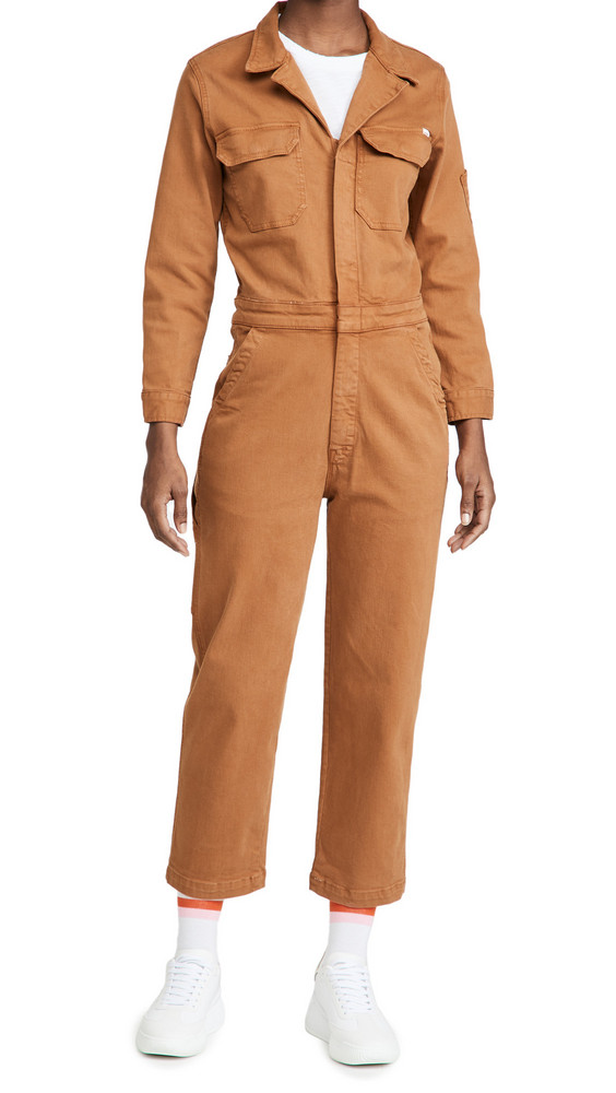 MOTHER The Fixer Jumpsuit in brown