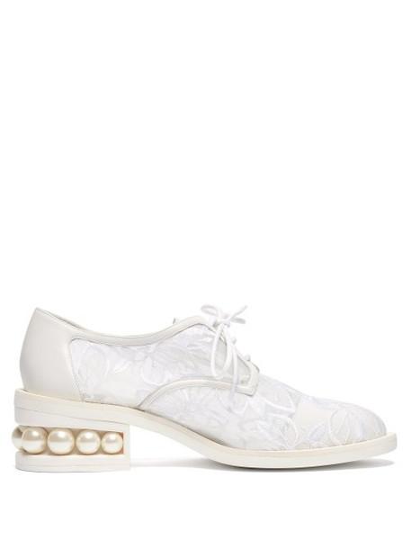 Nicholas Kirkwood - Casati Mesh Derby Shoes - Womens - White