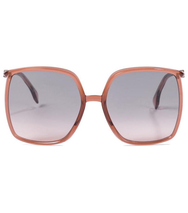 Fendi Oversized acetate sunglasses in pink