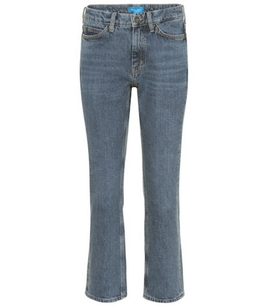 M.i.h Jeans Daily Crop high-rise straight jeans in blue