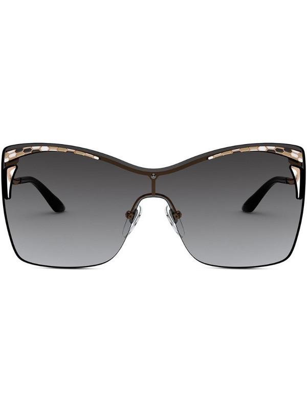 Bvlgari oversized-frame sunglasses in gold
