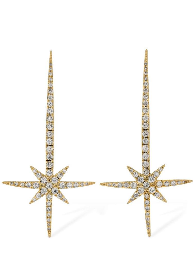 FEDERICA TOSI Comet Crystal Earrings in gold