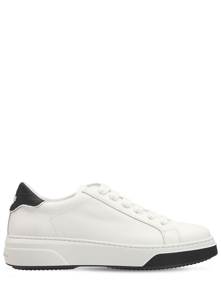 DSQUARED2 40mm Bumper Leather Sneakers in white