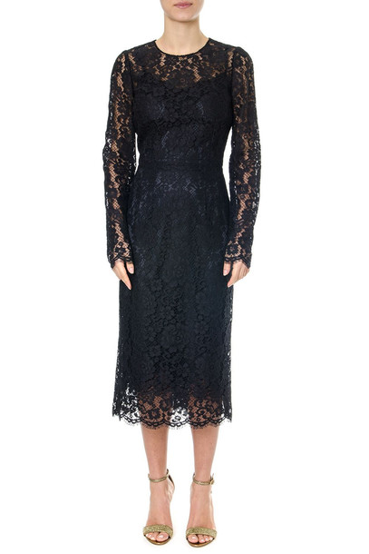 Dolce & Gabbana Black Long-medium Laced Dress