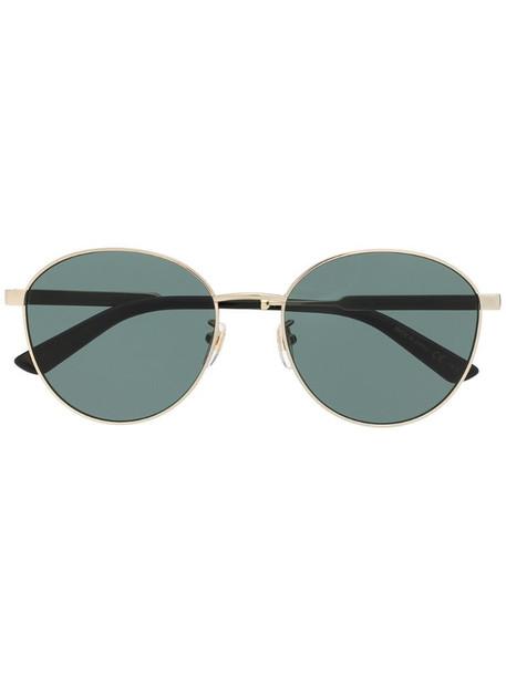 Gucci Eyewear round-frame sunglasses in gold