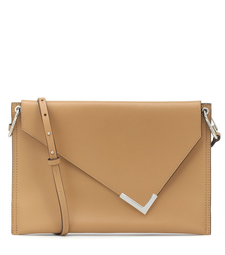Isabel Marant Tryne leather clutch in brown