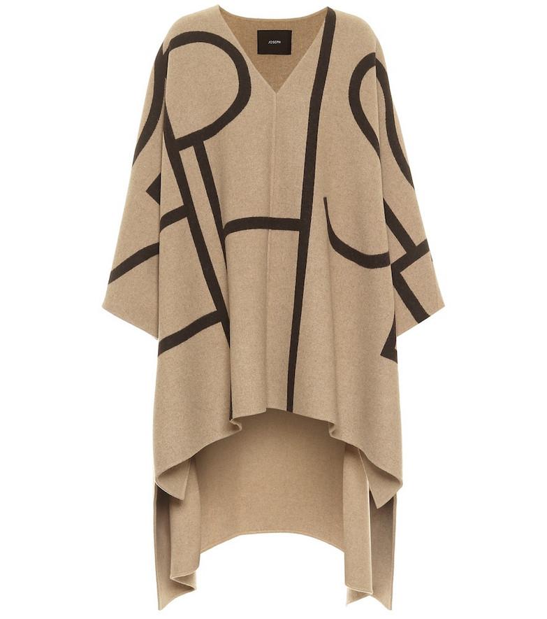 Joseph Ciela wool-blend cape in beige