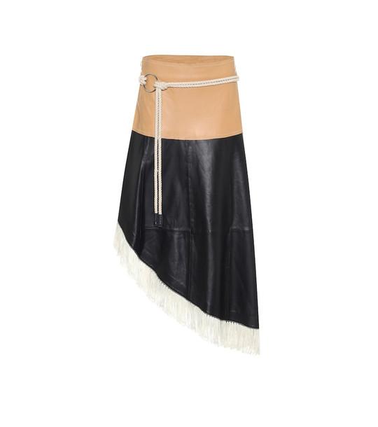 Stand Studio Amelia leather midi skirt in black