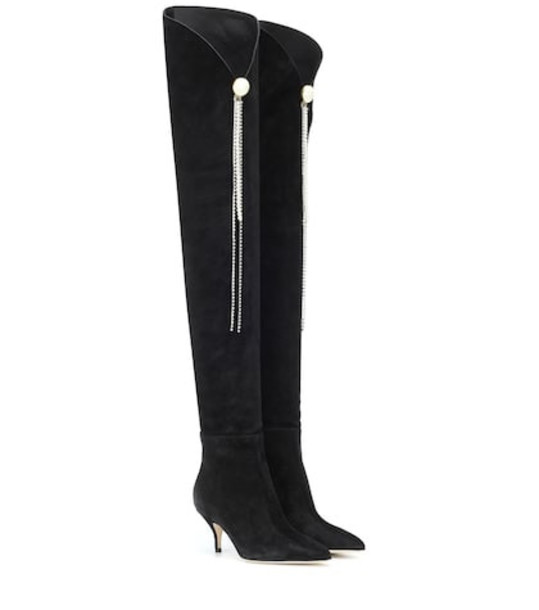 Magda Butrym Portugal suede over-the-knee boots in black